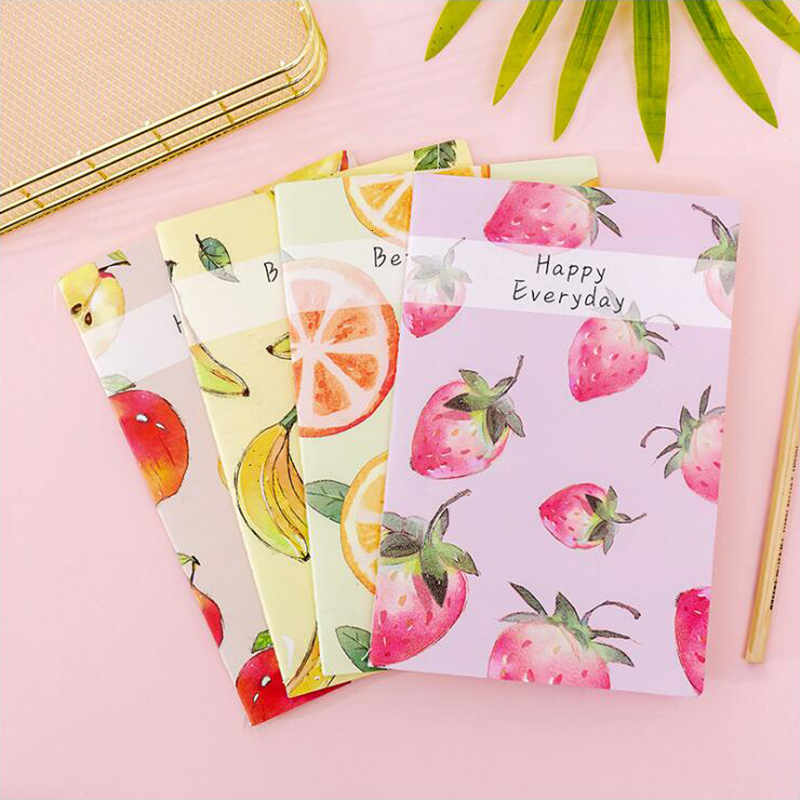 Colored Fruit Series Notebook Line-loaded A5 Books Office Stationery And School Supplies 1PCS