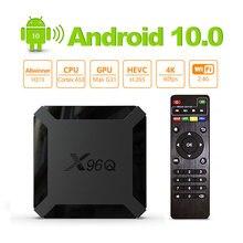 X96Q Android 10.0 Smart TV BOX Allwinner H313 Quad Core 2GB 16GB 2.4GHz WiFi H.265 4K Media Player 1G 8G Mini X96 Q Set Top Box цена 2017