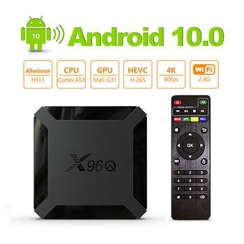 X96Q Android 10.0 Smart TV BOX Allwinner H313 Quad Core 2GB 16GB 2.4GHz WiFi H.265 4K Media Player 1G 8G Mini X96 Q Set Top Box