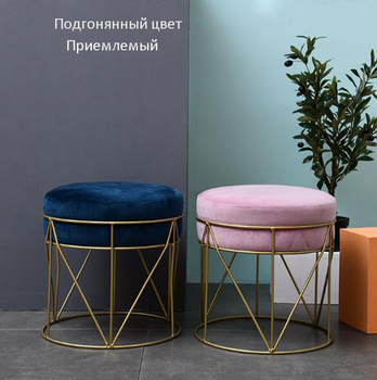 Fashion creative small stool change shoe stool bedroom furniture stool makeup stool sofa stool dressing round stool taburete american style dressing stool solid wood leather pedal simple bed end stool continental long shoe bench bedroom makeup stool