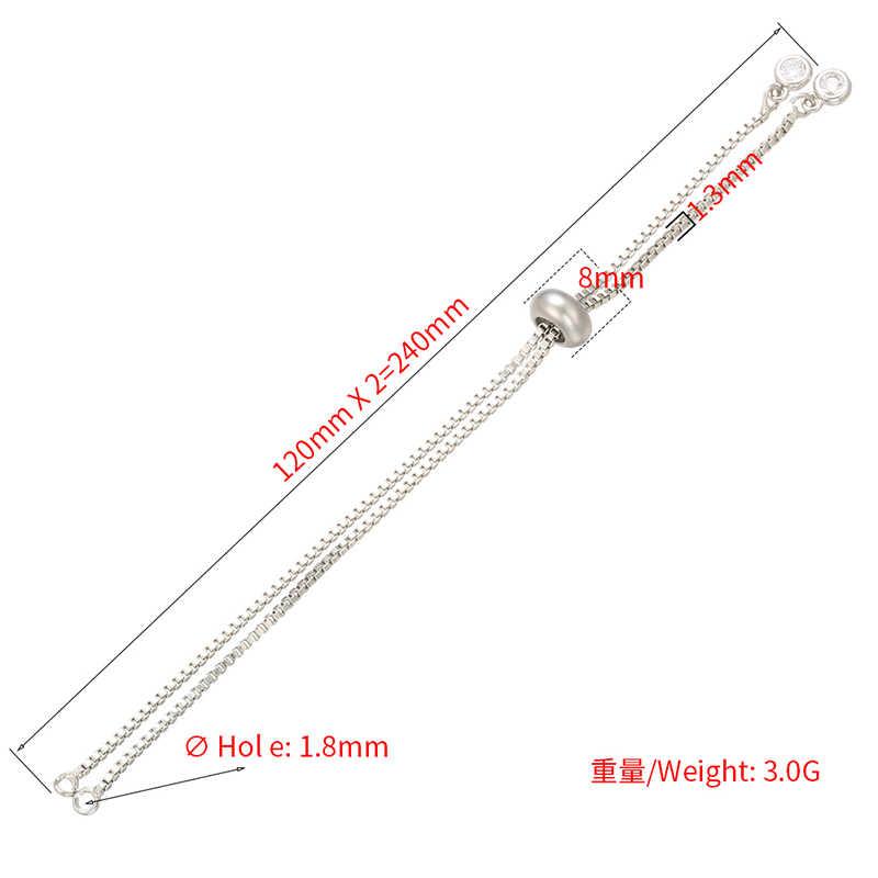 ZHUKOU 1.3x240 مللي متر النحاس حجر الراين بسيط قابل للتعديل سلسلة سوار لصنع المجوهرات سوار ذاتي الصنع سلاسل اكسسوارات الموديل: VL20