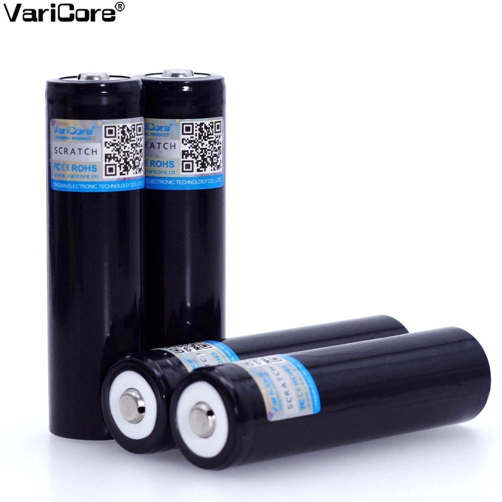 Wholesale VariCore Original New V-34 <font><b>18650</b></font> 3.7V 3400mA Rechargeable lithium battery Light Flashlight batteries +Pointed image