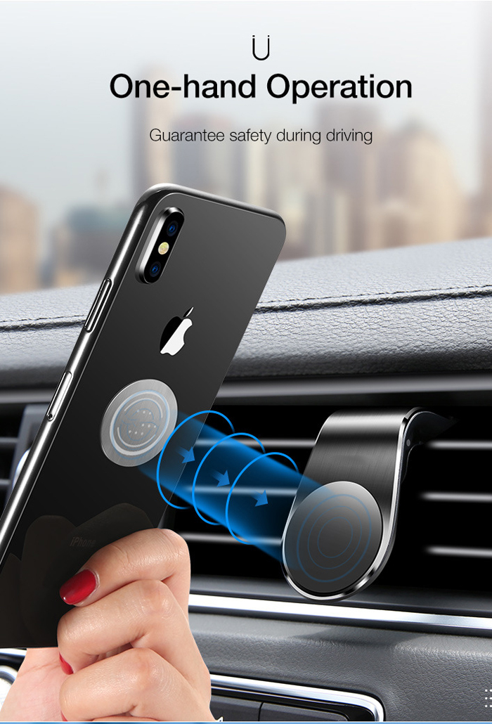 Fivetech Clip Magnetic Car Phone Holder Car Outlet Magnetic Phone Holder Cars Convenient Metal Phone Stand Compact Clip Bracket (5)