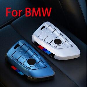 Image 2 - Placcatura Chiave Remote Controller Supporto del Sacchetto fit bmw lama KeyChain di chiave Dellautomobile di Caso Della Copertura per BMW X1 X5 X6 F15 f16 F48 BMW 1 / 2 Serie