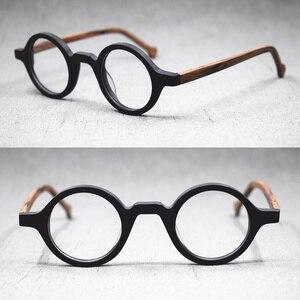 Image 4 - Lunettes rétro, petites montures de lunettes de style Vintage, rondes faites à la main, jante complète en acétate, Rx able