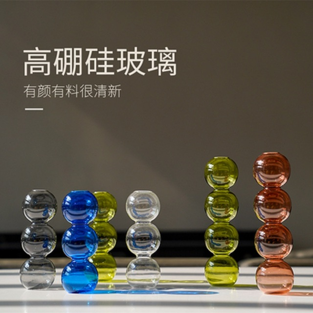 INS Crystal ball bubble Glass Vase Flower arrangement hydroponics ball glass art flower ware Home Decor 5