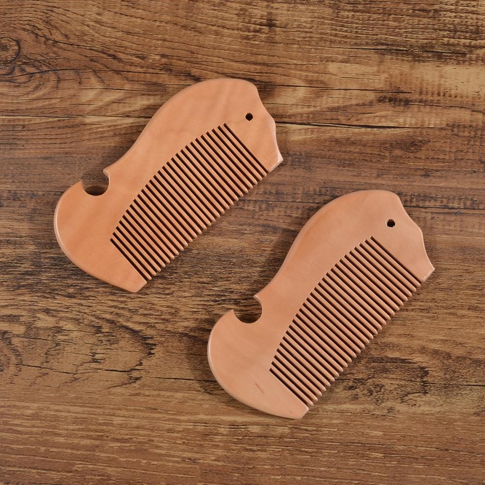 1Pcs Eco Friendly Wood Hair Brush Massage Comb Close Teeth Anti-static Head Massage Hair Care Wooden Tools Szczotka Do Wlosow