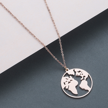 Todorova Stainless Steel Curved Crescent Moon Pendant Necklace OX Double Horn Necklaces for Women Delicate kolye Jewelry 3