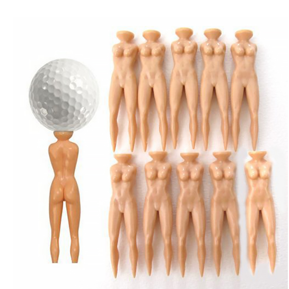 10pcs Portable Practice Accessories Outdoor Sport Sexy Plastic Game Nude Lady Novelty Training Golf Spike