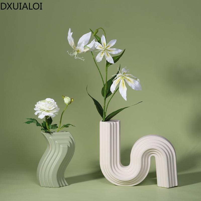 Nordic Ceramic Vase Decoration Modern, Living Room Ornaments
