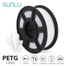 SUNLU PETG 3D filament 1.75mm 1KG(2.2lb) PETG 3D Printer Filament Dimensional Accuracy +/- 0.02 mm 1 kg Spool 1.75 mm petg 3d printing filament 1 75mm 1kg 2 2lb petg 3d printer filament dimensional accuracy 0 02mm translucence refill red