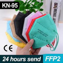 Protective-Face-Mask Mouth-Masks FFP2 Kn95mascarillas Colores 5-LAYERS-FILTER Breathable