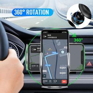 Image 4 - 15W מטען אלחוטי אינפרא אדום חיישן אוטומטי Qi טעינה מהירה טלפון מחזיק רכב הר עבור IPhone 12 11 XS XR 8 סמסונג S20 S10