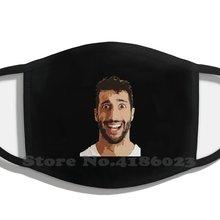 Daniel ricciardo inverno venda quente imprimir máscaras diy daniel ricciardo daniel motorista fórmula 1 piloto piloto