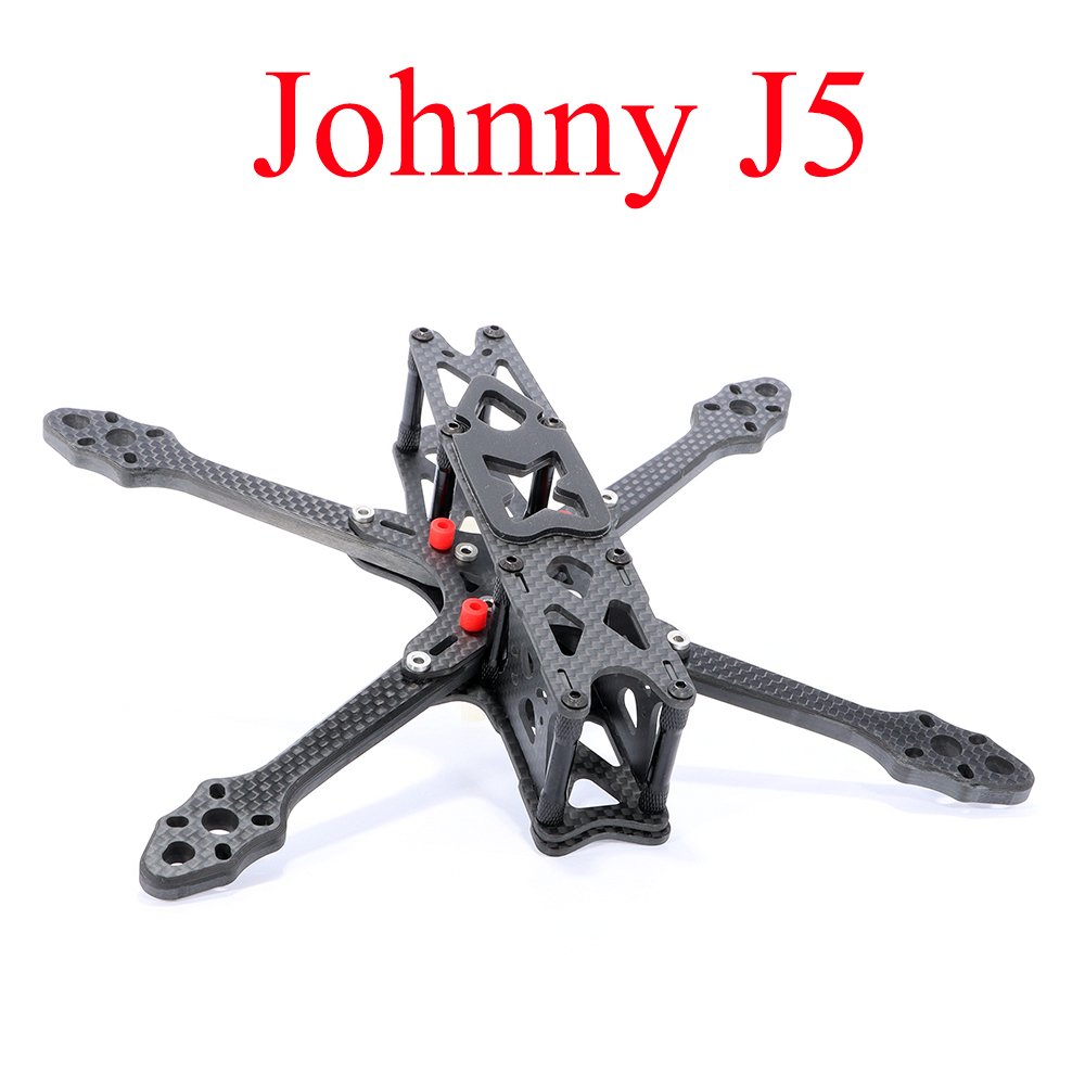 AstroX Johnny J5 Rack New Original 210 Preset Shock Absorption Carbon Fiber Frame Kit 5.5MM Arm For RC Drone Spare Parts DIY