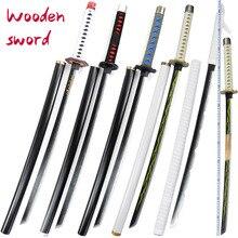 Деревянный меч 100 см дьявол клинок ролевые игры анимированное оружие детский деревянный меч игрушки