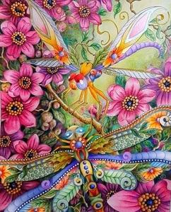 JMINE Div 5D красочные стрекозы полная Алмазная краска ing крестиком наборы искусство Высокое качество животное 3D краска алмазами