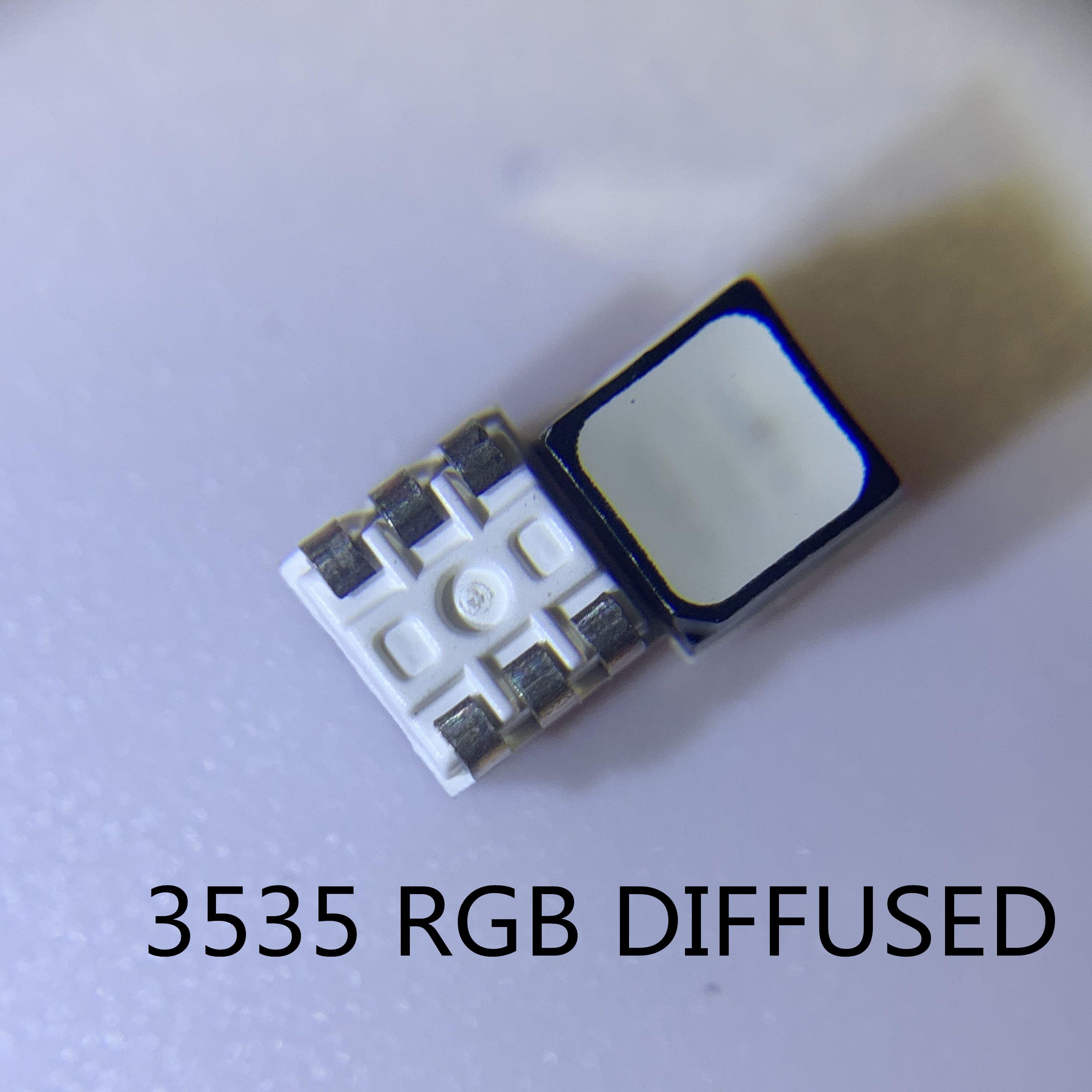 100 шт. smd СВЕТОДИОДНЫЙ led rgb PLCC6 3-в-1 SMD LED полноцветсветодиодный 3535 RGB 3-чиповый наружный полноцветный видеоэкран