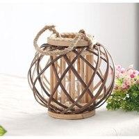 Wind hemp rope wicker creative lanterns Hand woven woven Halloween lamp shades vintage home decoration lights