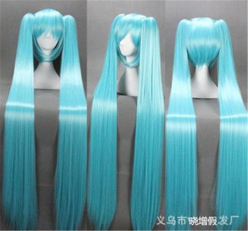 120cm Length Wigs Cosplay Wig VOCALOID Hatsune Miku Costume Play Wig Halloween Anime Hair
