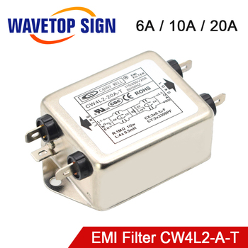 CANNY WELL CW4L2-20A-T EMI Power Filter Single-phase Double-section Power Filter CW4L2-10A -T CW4L2-6A -T 20a rated current ac 115v 250v jr 1220 r power line emi filter