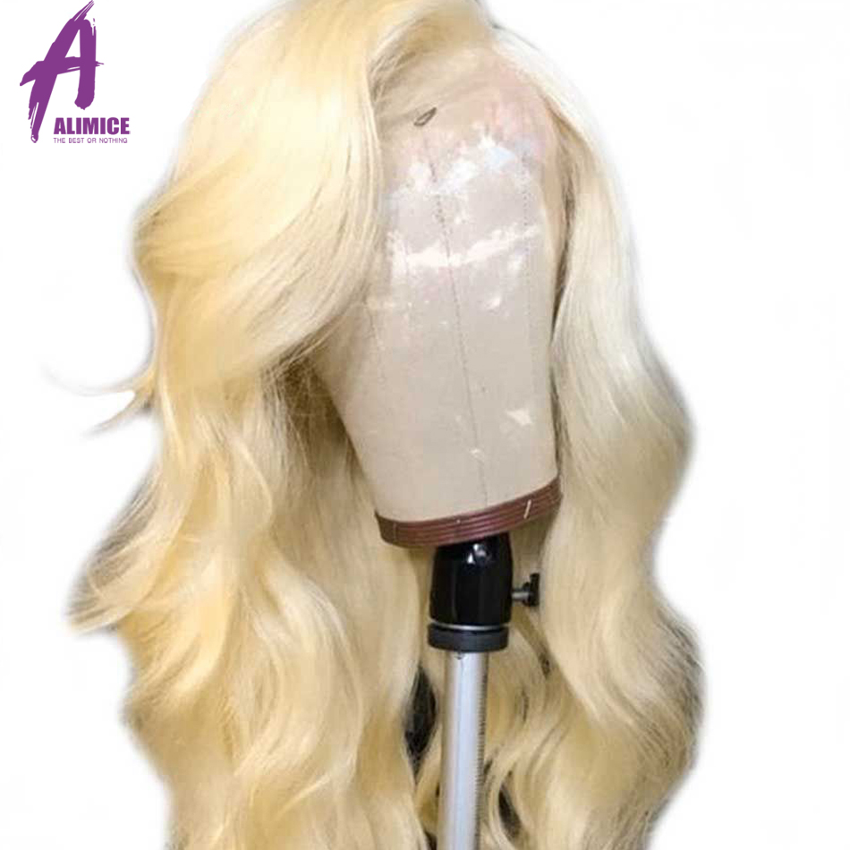 #613 Blonde Lace Front Wig Long Brazilian Body Wave Wig Lace Front Human Hair Wigs Preplucked Lace Wig Remy Hair Can Be Dyed