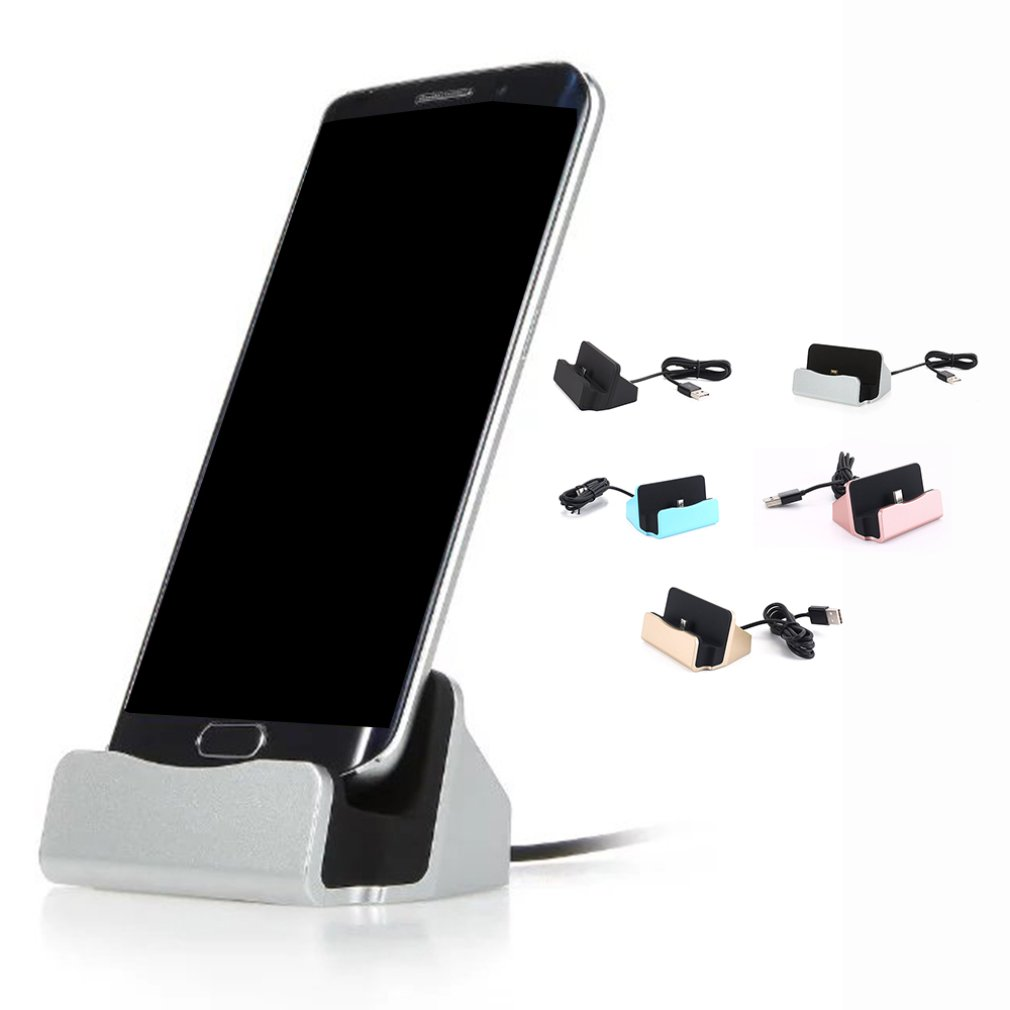 Portable Size Charging Base Dock Station Cable Sync Cradle Charger Base For Android For Samsung Stand Holder