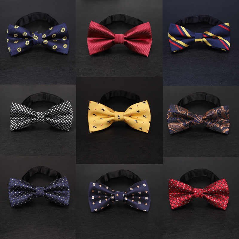 Formal Dress Bow Ties Fashion 2019 Men Bowtie Black Red Green Bow Tie Red Party Business Wedding Gifts For Guests