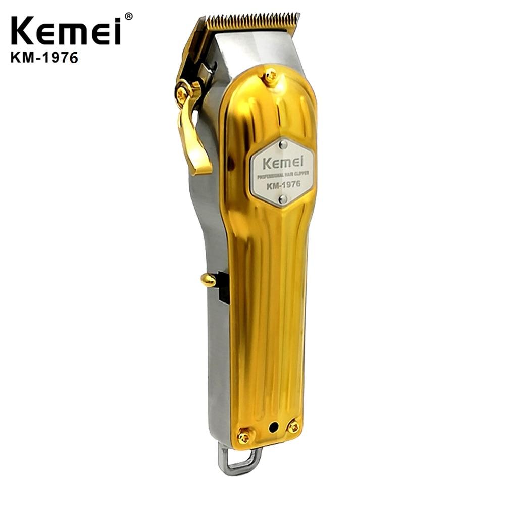 Kemei Professional All Metal Hair Clipper Men Electric Hair Trimmer Fade Hair Cutter Haircut Machine Barber Shop KM-1977 KM-1976