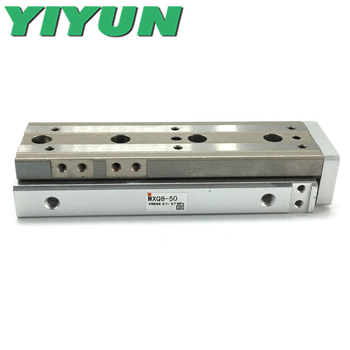 MXQ8-10A/20A/30A/40A/50A/75A MXQ8-10B/20B/30B/40B/50B/75B C/R/F/P YIYUN Pneumatic Components Air Slide Table Cylinder MXQ Series image