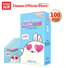 Elasun The 100 pieces Condoms For Men Cute Package Erotic Sex Shop Penis Enlargement Ultra Thin Lubricating Cock