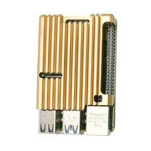 Aluminium Gold Gehäuse Fall Metall Shell Box Kühlkörper für Raspberry Pi 4 Modell B 83XB