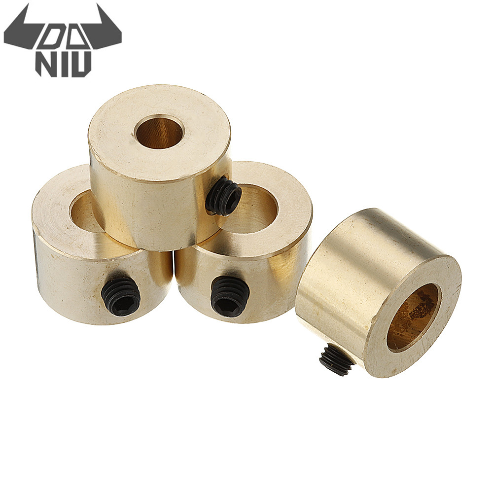 DANIU 6/8/9/10mm Brass Depth Stop Collar Twist Drill Bit Shaft Ring Woodworking Positioner Spacing Ring Locator image