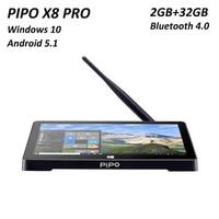 PIPO X8 PRO Mini PC Intel8350 Android5.1+Windows10 Dual OS 2GB32GB 2.4G/5G WIFI Bluetooth4.0 Built in office1020P*800 HD Mini PC