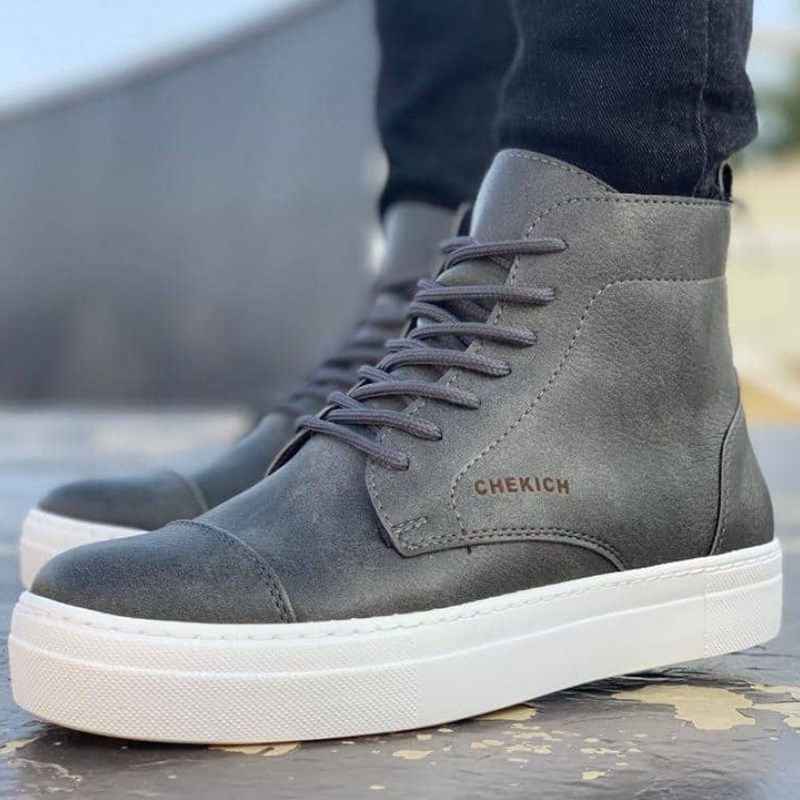 Chekich CH029 BT Grey Men Sneaker Comfortable Flexible Fashion Style Leather Wedding Classic зима сапоги мужские 2020