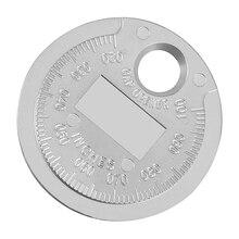 1 шт. система зажигания измеритель зазора Инструмент Калибр измерительный инструмент валютного типа 0,6-2,4 мм Диапазон свечей зажигания зазора инструмент щупа