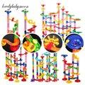 Дропшиппинг DIY трек трубы строительные блоки для детей мяч цепь мрамор гоночный бег лабиринт шары Обучающие игрушки подарки для детей