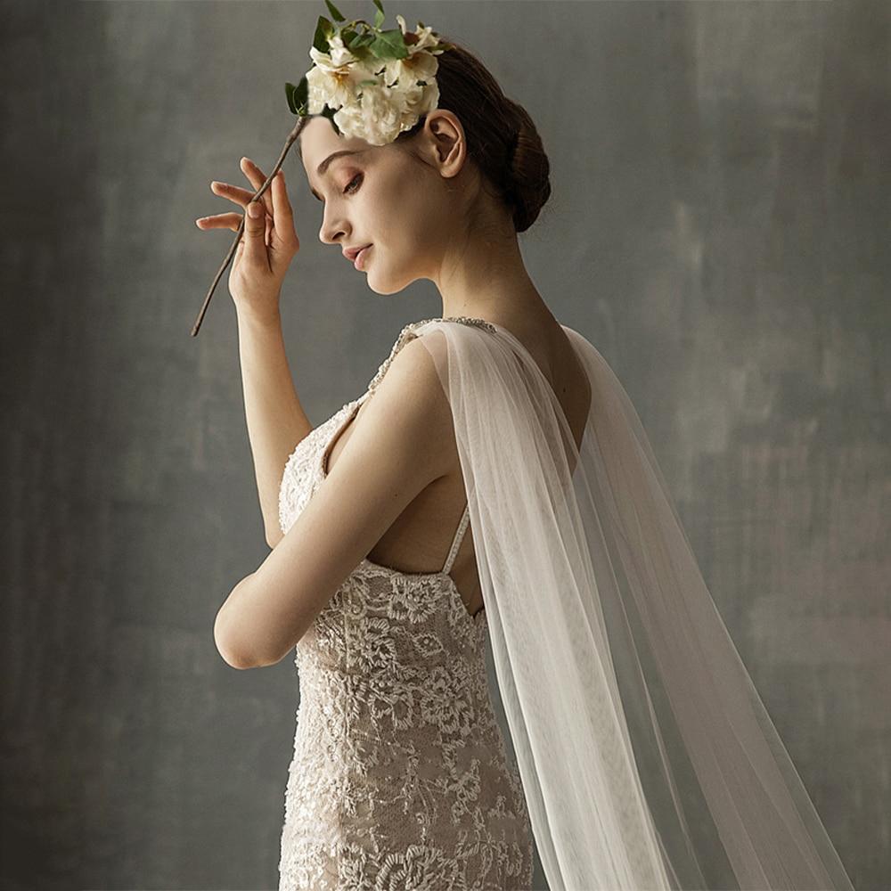 Shawl Bridal Veil Wedding Dress Headdress Double Shoulder Veil Pearl Luxury Bead Crystal 3m Long Chapel Shoulders Accessory