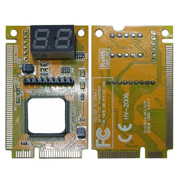 2-Digit Portable Computer PC Mini PCI PCI-E LPC Laptop Analyzer Tester Mother Board Debug Checker Diagnostic Card 1