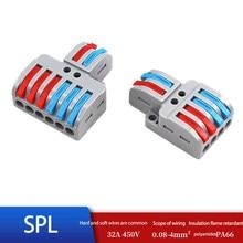 5/10/lot SPL-42/62 mini conector de fio rápido conector de cabo de fiação universal push-in condutor conectores de fio de bloco de terminais