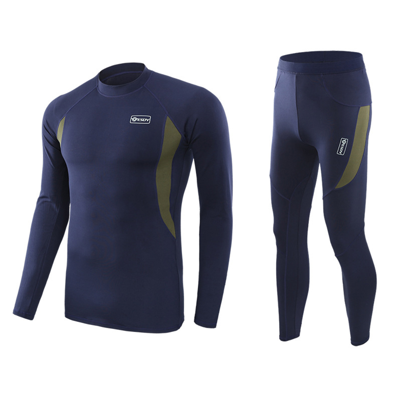 Mens Winter Thermal Underwear Sets Men Quick Dry Anti-microbial Stretch Male Thermo Underwear Male Warm Long Johns Fitness M-2XL