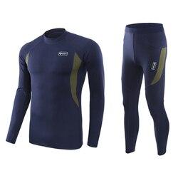 Mens Winter Thermisch Ondergoed Sets Mannen Snel Droog Anti-microbiële Stretch Mannelijke Thermo Ondergoed Mannelijke Warme Lange Onderbroek Fitness m-2XL