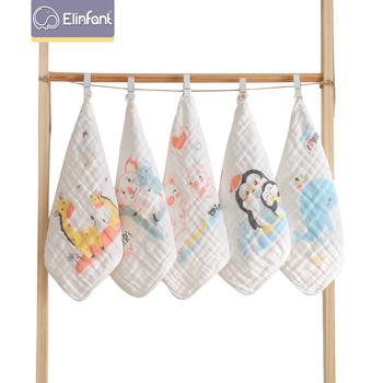 Elinfant 5 szt Twarz dziecka ręcznik sześć warstw z nadrukiem gaza kwadratowe ręczniki dziecięce ręczniki do płukania ust małe ręczniki ręczniki dla dzieci tanie i dobre opinie 100 bawełna 4-6 miesięcy 7-9 miesięcy 10-12 miesięcy 13-18 miesięcy 19-24 miesięcy 2 lat w górę Cartoon Zestaw ręczników