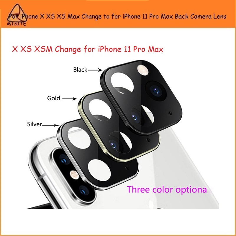 2Pcs/Lot Best Sell For IPhone X XS XS Max Change For IPhone 11 Pro Max Rear Back Camera Glass Lens Cap Seal Bracket Ring Holder