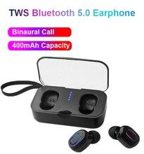 Mini TWS Bluetooth Earphones 5.0 Handsfree Stereo Deep Bass Earbuds True Wireless Bluetooth Headset Sport Earphone Drop Shipping