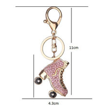 Keyring Bag Charm Pendant Keys Holder Roller Skates Shoe Crystal Keychain Jewelry Key Chain Women Girl Gifts XIN-Shipping(China)