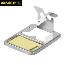 WMORE soldering iron Stand Holder with Cleaning Sponge Metal Pads Generic High Temperature Resistance welding solder iron stand цены онлайн