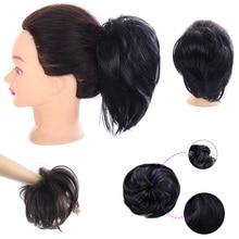 DIFEI синтетический парик Резиновая лента curley hairbun пончик грязный шиньон для женщин 10 цветов наращивание волос булочка