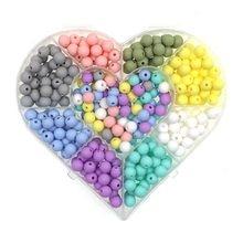 Kovict – perles de Dentition en Silicone pour bébé, 500/1000/2000 pièces, perles rondes de 9mm, pour la fabrication de bijoux, produits pour bébés