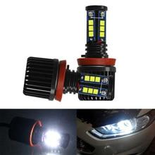 2 шт. 120 Вт H8 автомобильный 12-XML светодиодный ангельские глазки Halo кольцевой светильник супер яркий для BMW E60 E63 E90 E92 E93 335i автомобильный светильник angel Eye